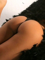 Karla Spice is your sexy dark angle that reveals almost all her beautiful naked body.